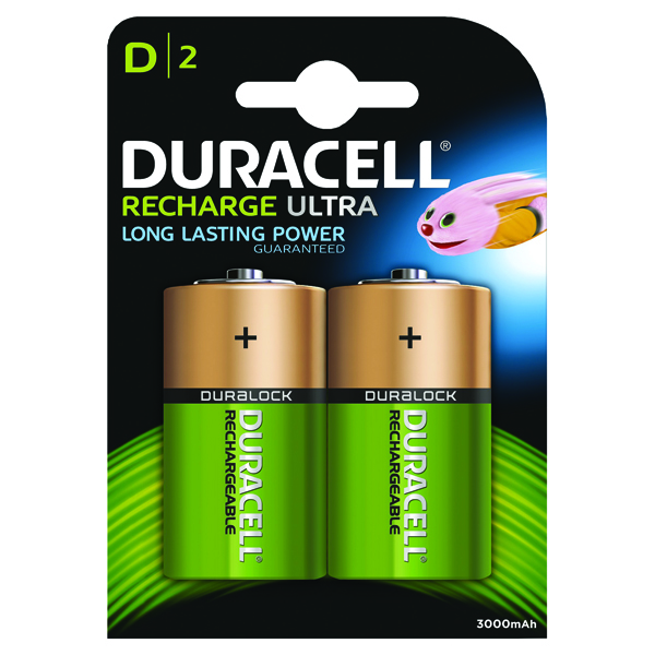 Duracell D Rechargeable NiMH Batteries (2 Pack) 15038743