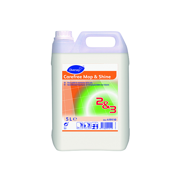 CareFree Mop and Shine Floor Polish 5 Litre (2 Pack) 419110