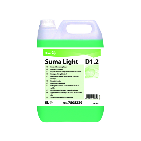 Diversey Suma Light D1.2 Dishwashing Liquid 5L (2 Pack) 7508229
