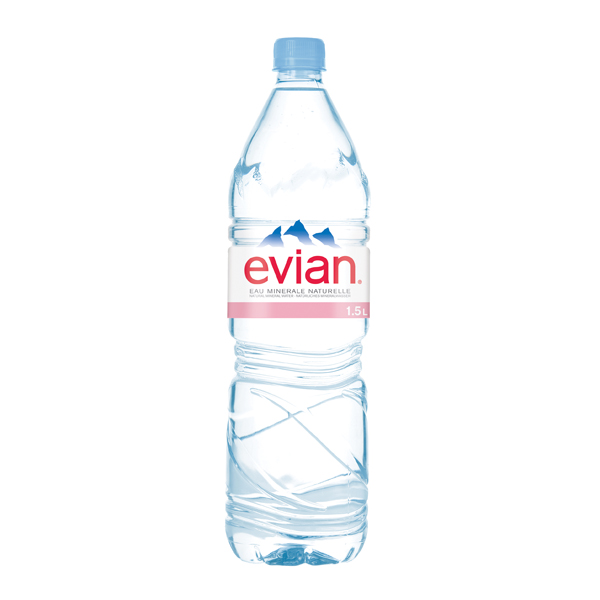 Evian Natural Spring Water 1.5 Litre (12 Pack) A0390112
