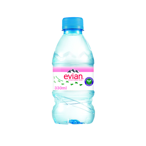 Evian Natural Spring Water 330ml (24 Pack) A0106212