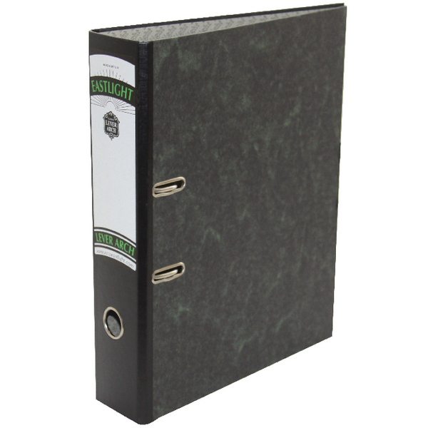 Rexel Classic A4 Lever Arch File Black/Green (Pack of 10) 26645EAST