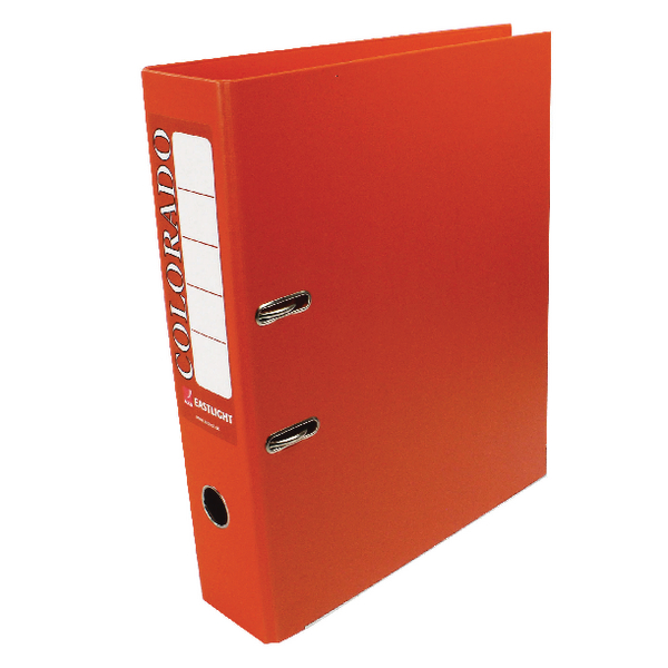 Rexel Colorado Foolscap Lever Arch File Orange (10 Pack) 28116EAST