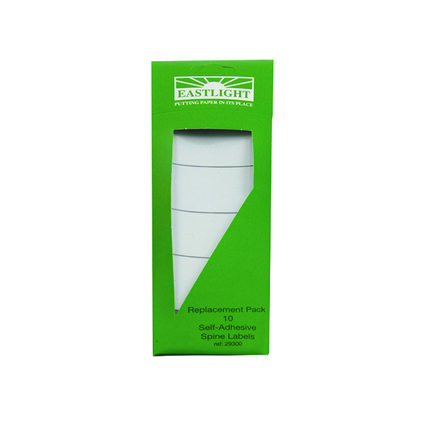 Rexel Standard Spine Label for Rexel Lever Arch and Box File White (10 Pack) 29300EAST