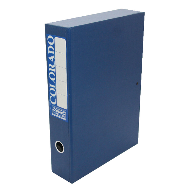 Rexel Colorado Box File Foolscap Blue (5 Pack) 30413EAST