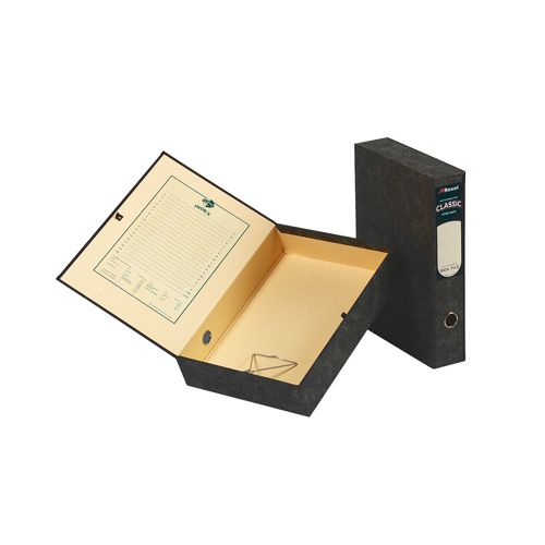 Rexel Classic Box File Lockspring Foolscap Black (5 Pack) 30115EAST