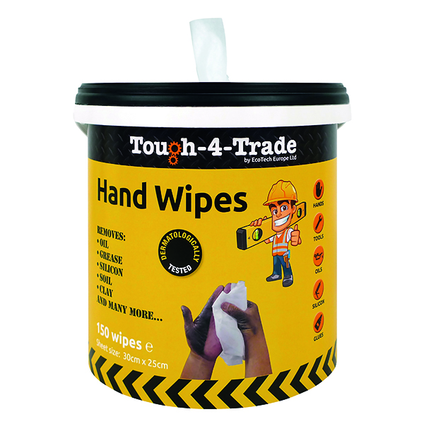 EcoTech Industrial Hand Wipes 300 x 250mm (150 Pack) EBMH150
