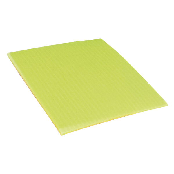 Ecotech 200x180mm Yellow Sponge Cloths SC100