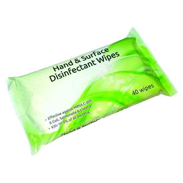 EcoTech Hand and Surface Disinfectant Wipes (16 x 40 Wipes Pack) FPHSD40