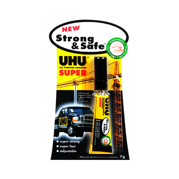 UHU All Purpose Strong and Safe Super Adhesive 7g (12 Pack) 39722