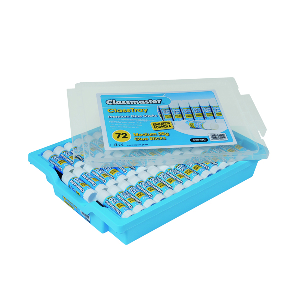 Classmaster Education Gluestick 20g in Gratnells Tray (72 Pack) G2072G