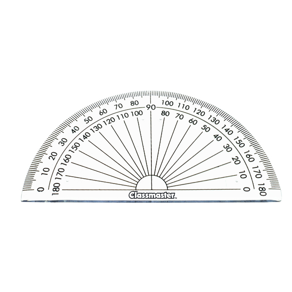 Classmaster 180 Degree Protractor (10 Pack) 899595
