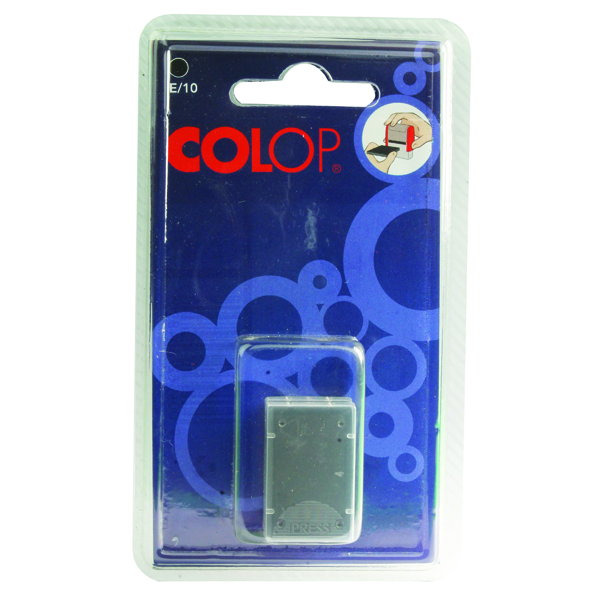 Colop E/10 Replacement Black Ink Pad (2 Pack) E10BK