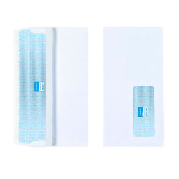 Initiative Envelope DL Self Seal Window 90gsm White Pack 1000s