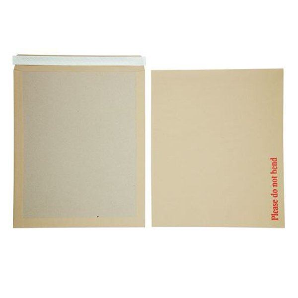 Initiative Envelope Boardbacked Peel n Seal 17.5x14.5 inches 115gsm Manilla Pack of 50