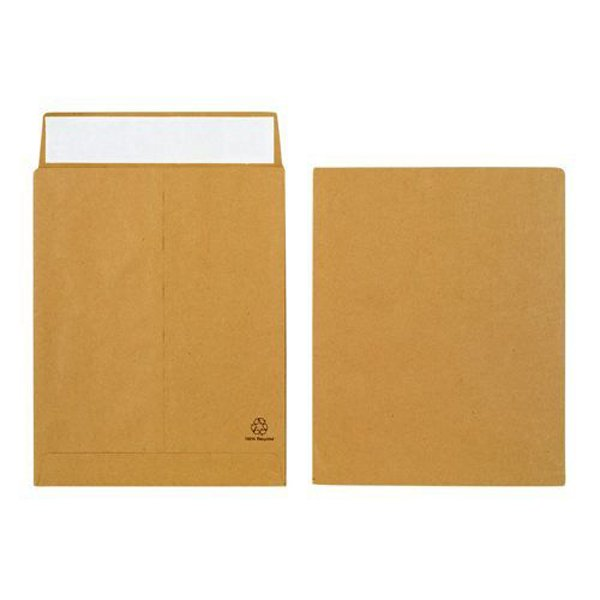 Initiative Envelope 25mm V-Base Gusset Pocketed Plain Peel n Seal 12x10x1 120gsm Manilla Pack 125