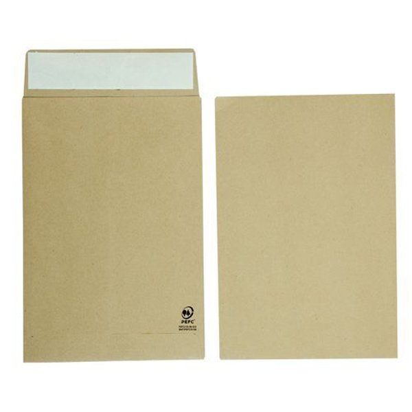 Initiative Envelope 25mm V-Base Gusset Pocketed Plain Peel n Seal C4x1 120gsm Manilla Pack 125