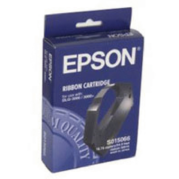 Epson Black DLQ-3000 Fabric Ribbon Cartridge S015066 / C13S015066