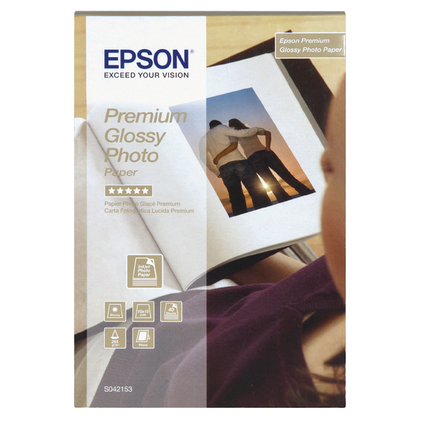 Epson Premium Glossy Photo Paper 100x150mm (40 Pack) C13S042153