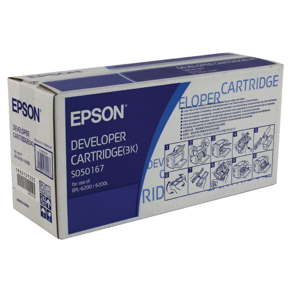 Epson Toner/​Developer Cartridge EPL-6200L Black C13S050167