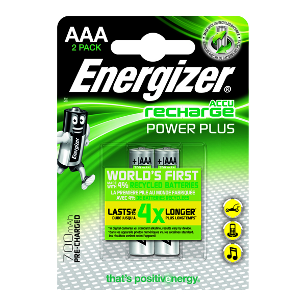 Energizer Rechargable AAA Batteries (2 Pack) 632986