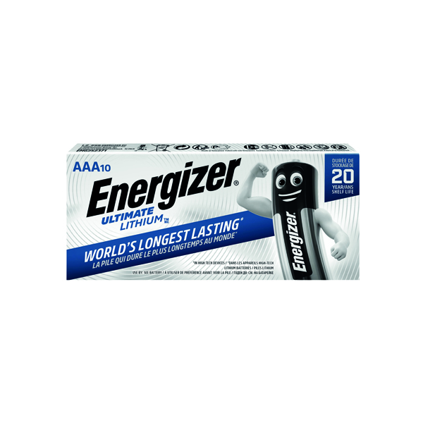 Energizer AAA Ultimate Lithium Batteries (10 Pack) 634353