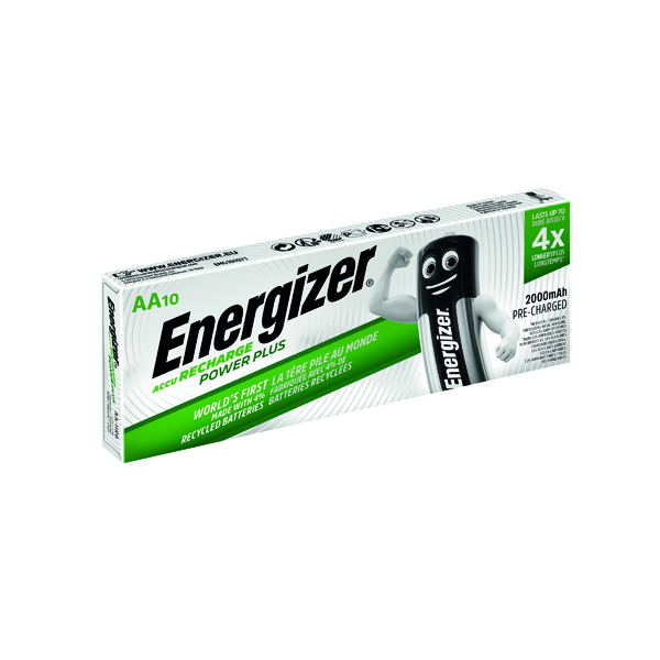 Energizer Rechargable AA Batteries 2000mAh (10 Pack) 634354