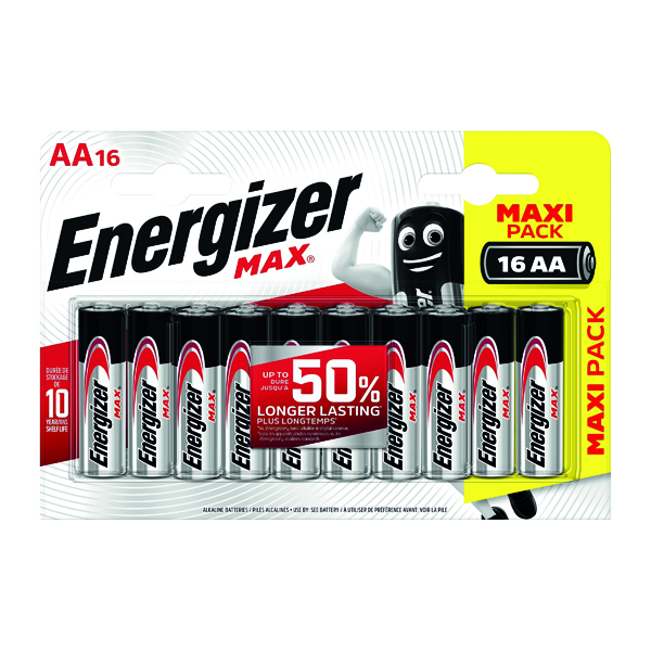 Energizer MAX E91 AA Batteries (16 Pack) E300132000