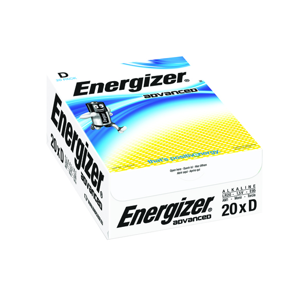 Energizer Advanced Size D Batteries E95 (20 Pack) E300488200