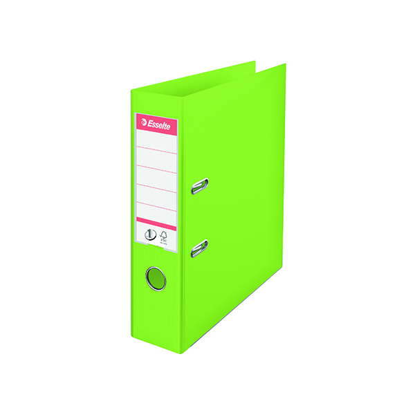 Esselte Polypropylene A4 75mm Green Lever Arch File (10 Pack) 624069