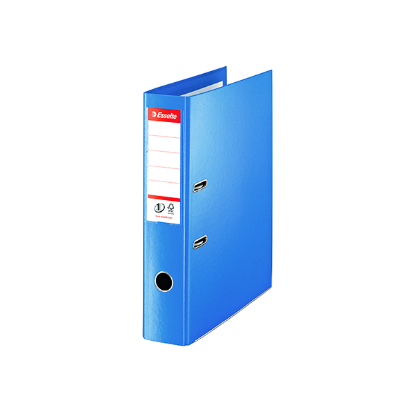 Esselte Polypropylene Foolscap 75mm Blue Lever Arch File (10 Pack) 48085