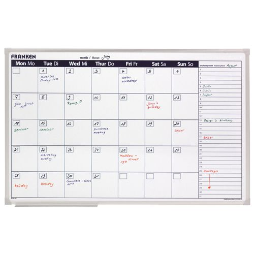 Franken White Month Planner 900 x 600mm (pack of 1) VO-7