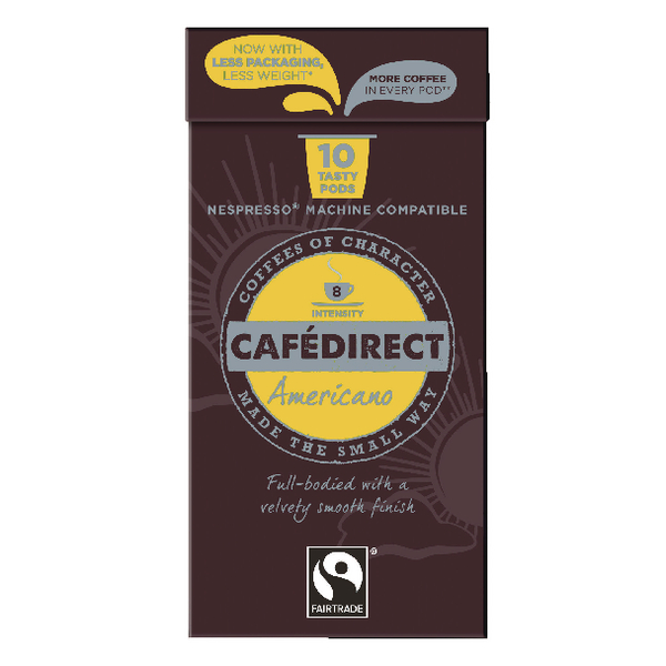 Cafedirect Nespresso Compatible Coffee Pods Americano (100 Pack) FCR0031