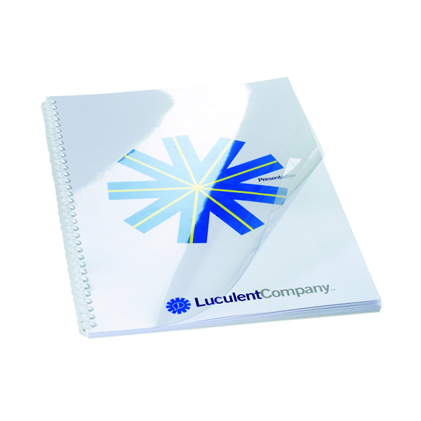 GBC HiClear Binding Covers A4 PVC 150 Micron (50 Pack) 41600E