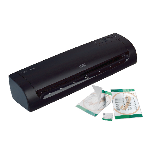 GBC Fusion 1100L A3 Laminator (Pack of 1) with FOC 2 x Pk100 A4 Laminating Pouches Gloss GB810023