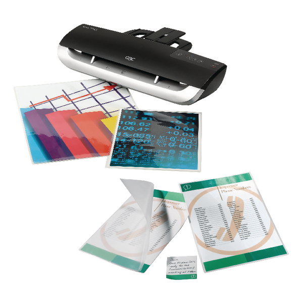 GBC Fusion 3100L A3 Laminator Black with Free Pack of 100 A4 Laminating Pouches GB816438