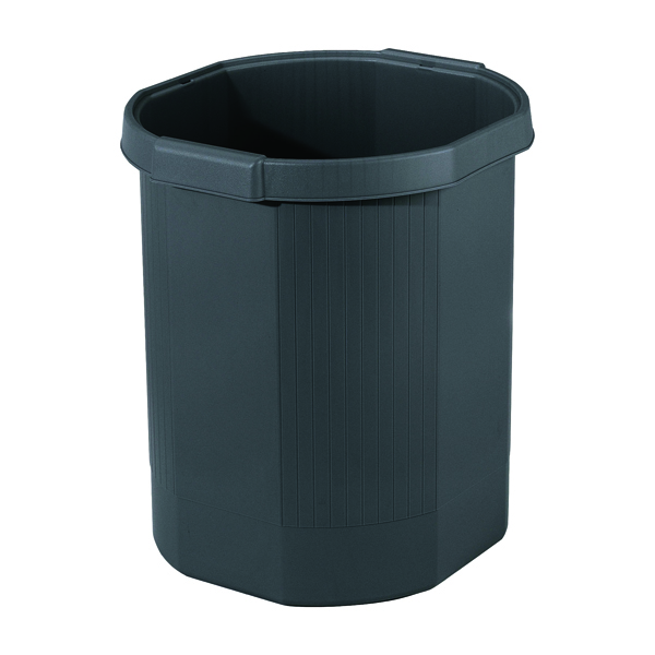 Exacompta Forever Black Waste Bin 435014D