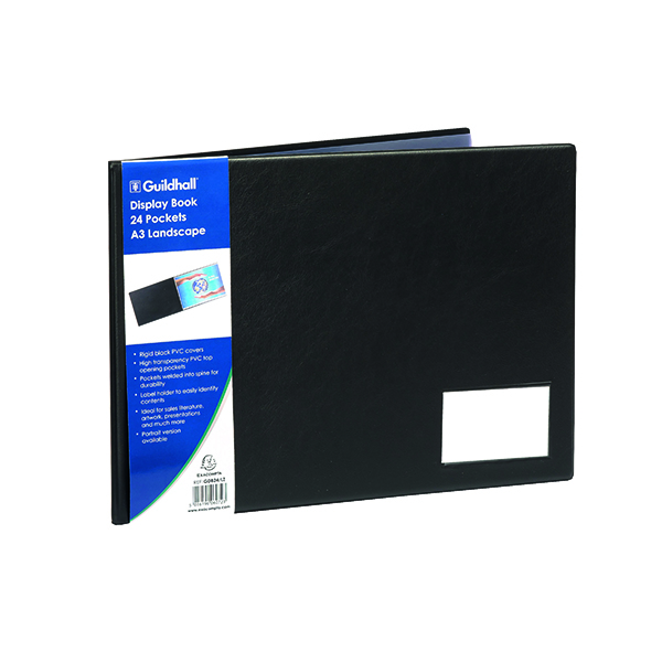 Guildhall Display Book 24-Pocket A3 Landscape GDB24/L