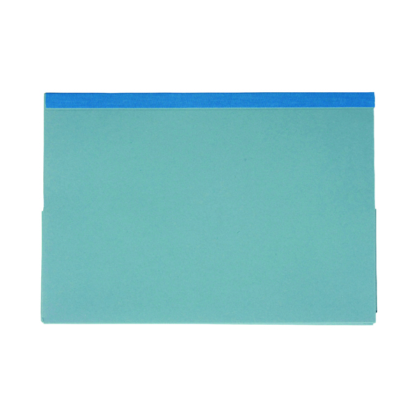 Guildhall Reinforced Legal Double Pocket Wallet Blue (25 Pack) 218-BLU
