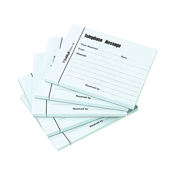 Guildhall Telephone 100 Leaf Message Pad (5 Pack) 1571