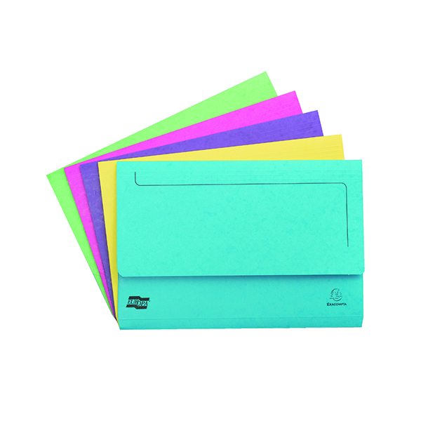 Europa Assorted Pocket Wallet Foolscap (25 Pack) 3156Z
