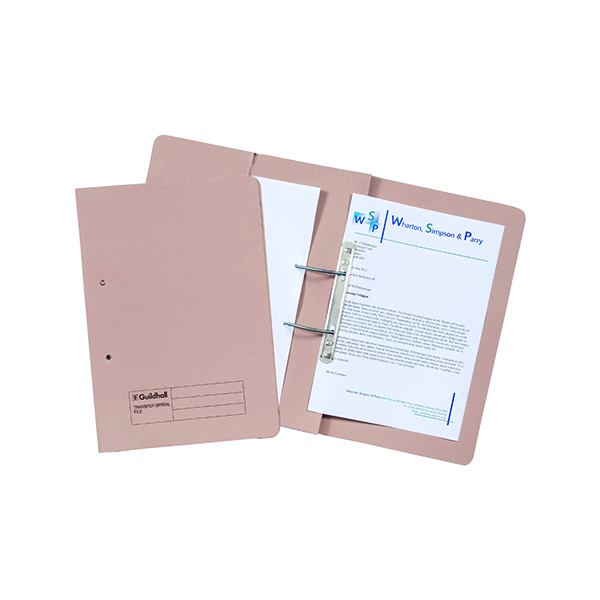 Guildhall Buff Foolscap Pocket Spiral File (25 Pack) 349-BUF