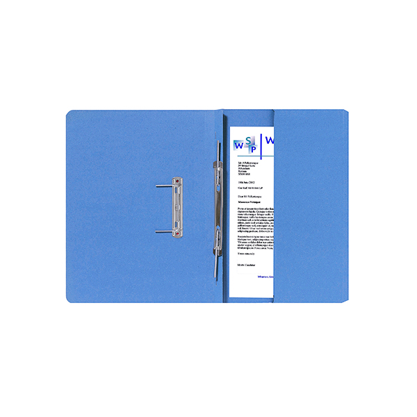 Guildhall Blue Foolscap Right Hand Pocket Spiral File (25 Pack) 211/9060Z