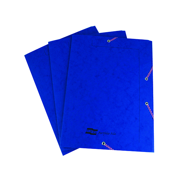 Europa A4 Dark Blue Portfolio File (10 Pack) 55502SE
