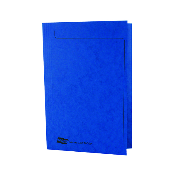 Europa Foolscap Blue Square Cut Folder (50 Pack) 4825