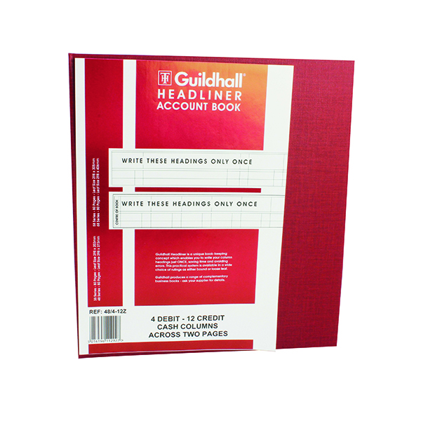 Guildhall 298x273mm Headliner Book 80 Pages 48/4-12 1292
