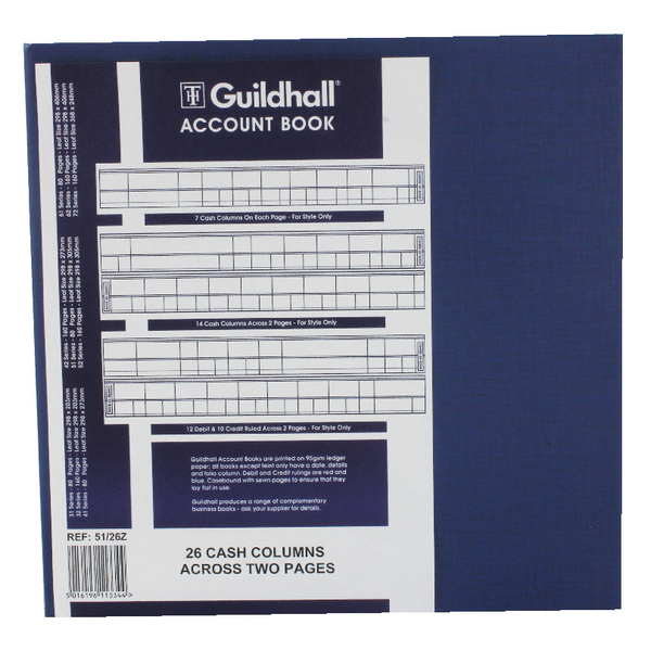 Guildhall 26 Cash Columns Account Book 80 Pages 51/26 1334