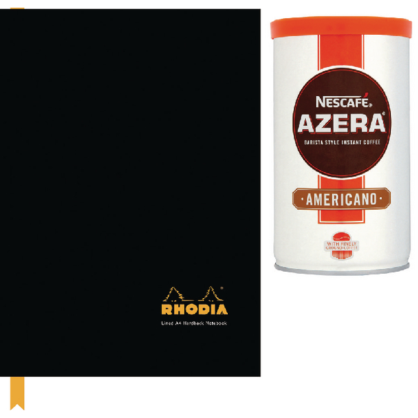 Rhodia Business Book A4 Casebound Hardback 192 Pages Black (3 Pack) 119230C