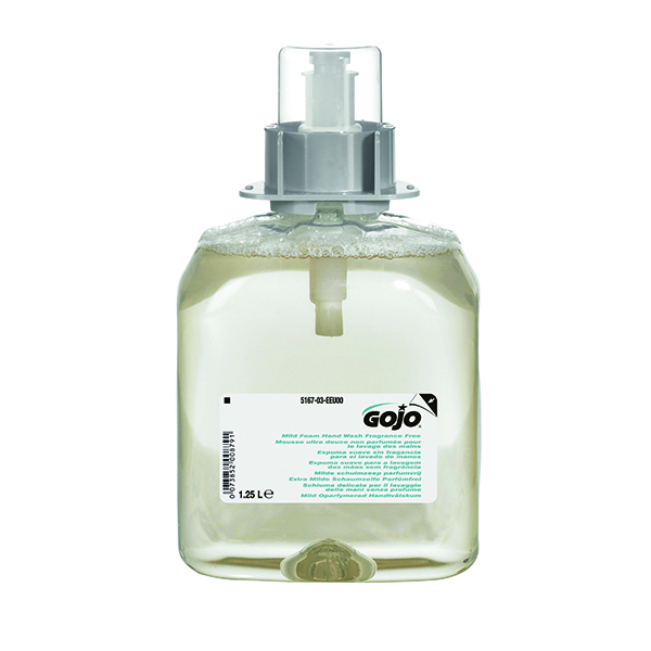 Gojo Mild Fragrance Free Hand Wash Refill for FMX Dispenser (3 Pack) 5167-03