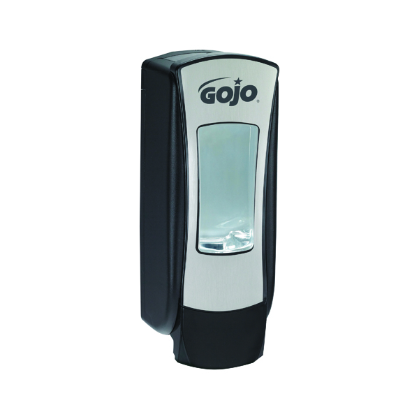 Gojo ADX-12 Manual Hand Wash Dispenser Chrome and Black 888-06